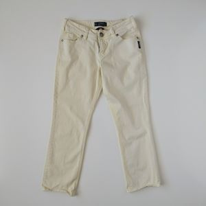 Silver Jeans Suki Capri Yellow Cream Pants 27